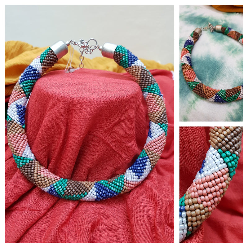 Multicolor Beads Choker Necklace