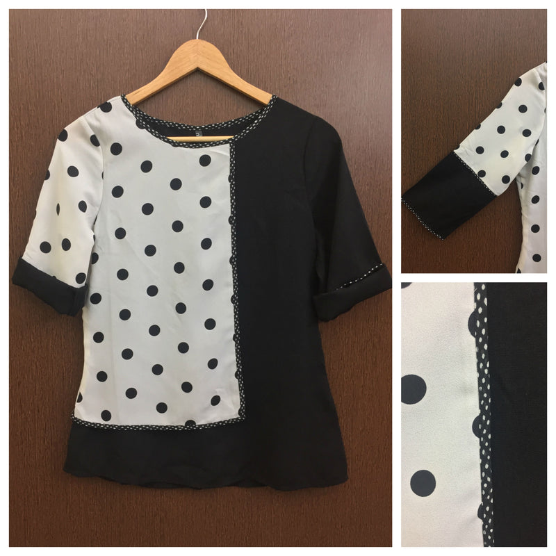 2 Color Polka Dotted Top