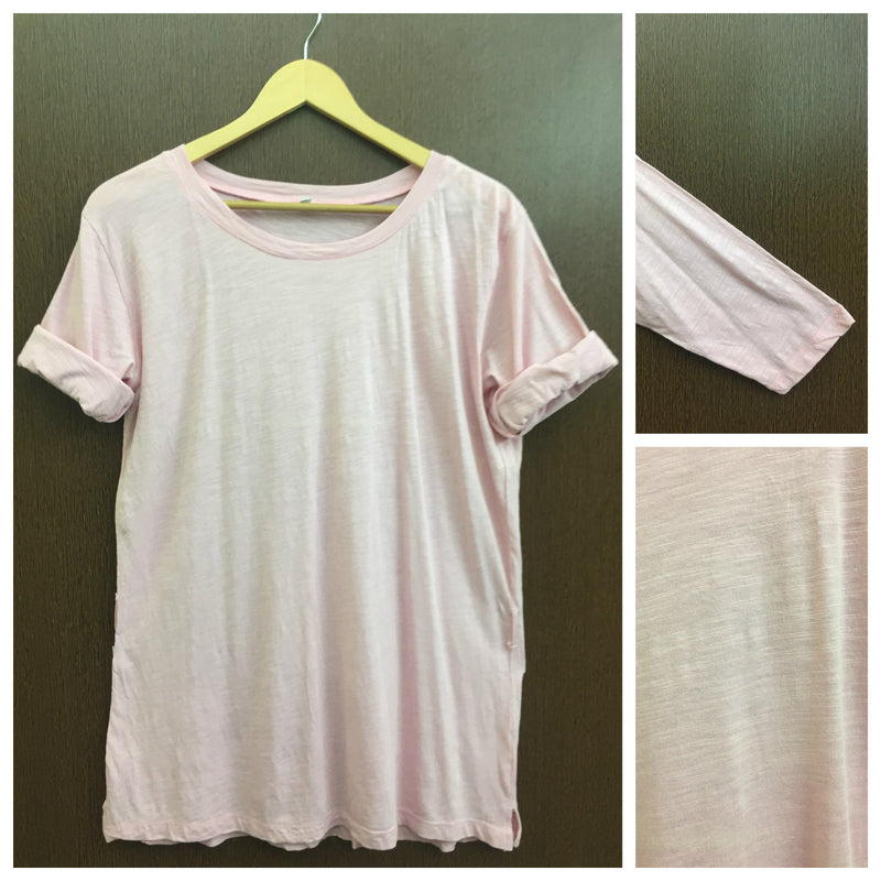 Casual Pink Long Tee
