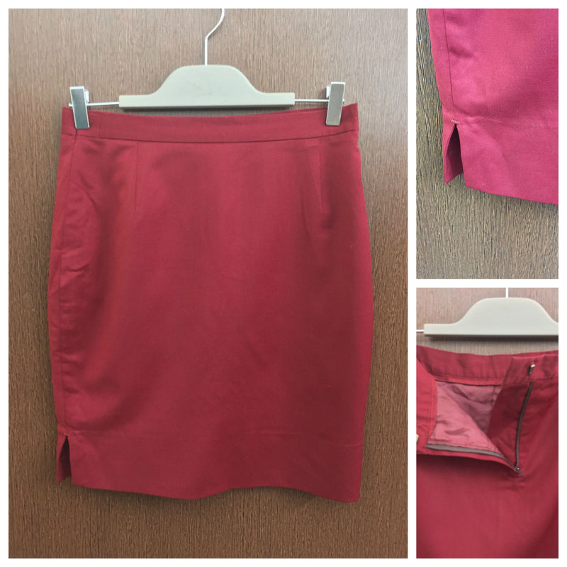 A Line Maroon Skirt