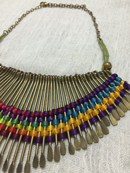 The Rainbow of Weaved Oars neckpiece - #FTFY - For The Fun Years