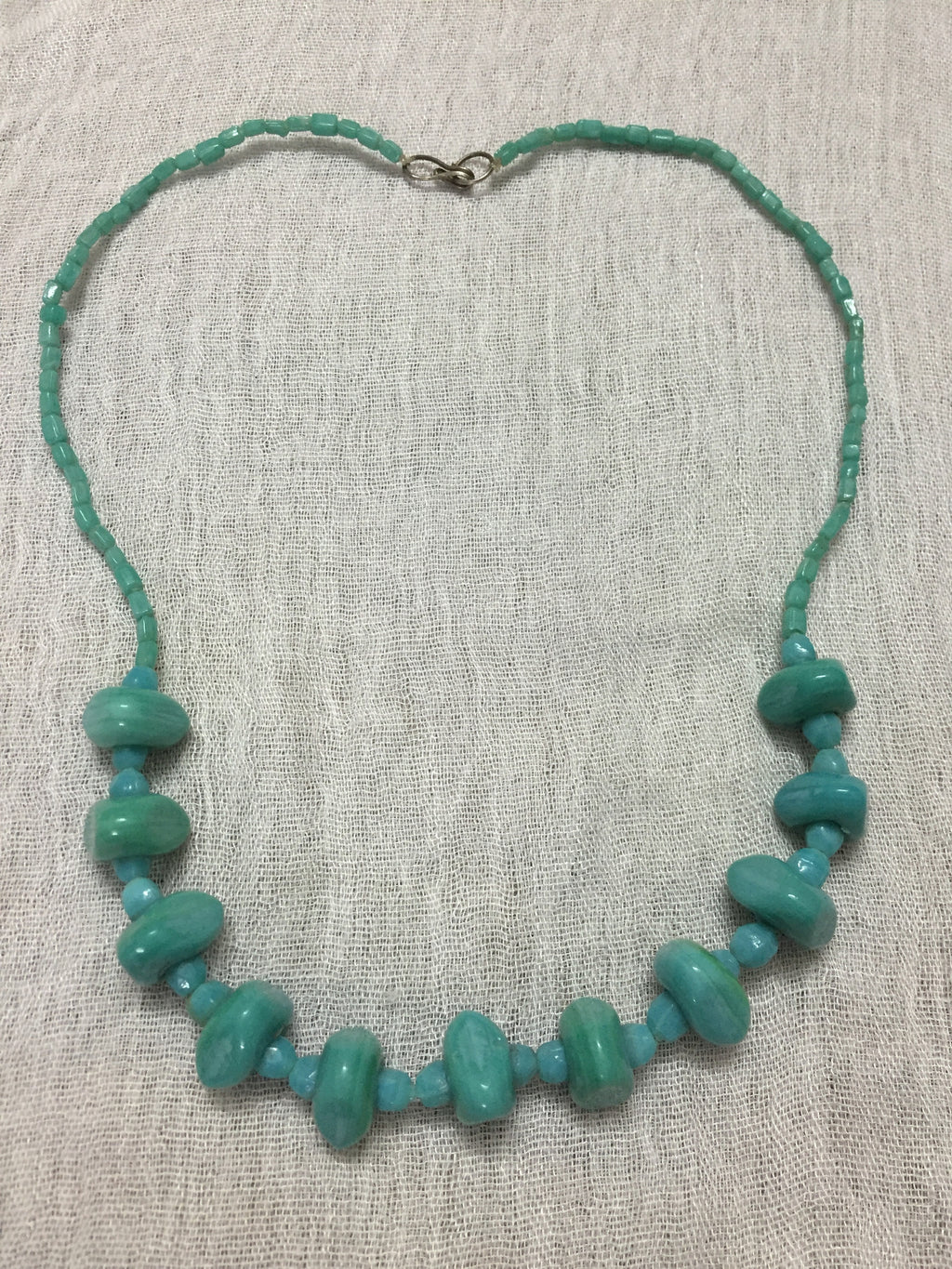 The Turquoise Blue different sized beads Neckpiece - #FTFY - For The Fun Years