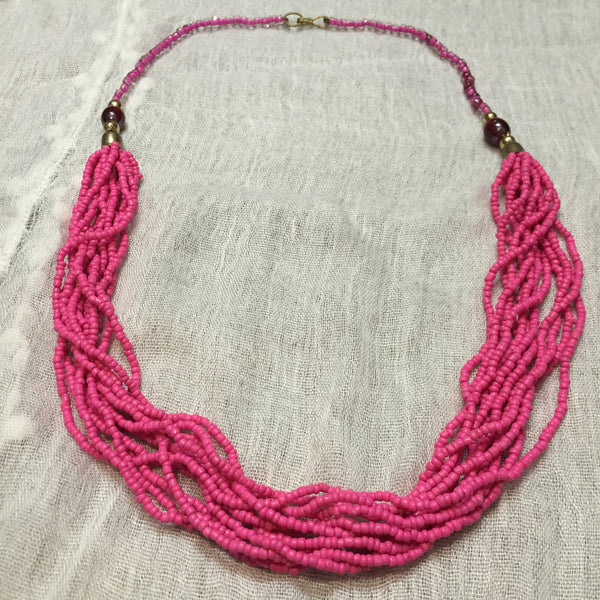 The pretty pink multi-layered beads neck piece - #FTFY - For The Fun Years
