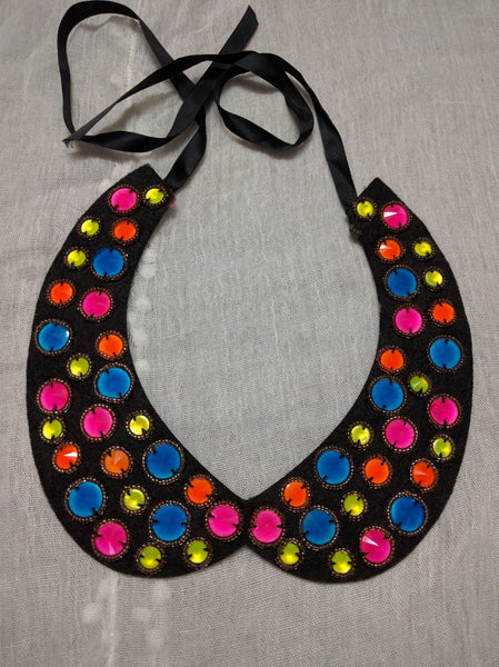 Neon Circles on Collar - #FTFY - For The Fun Years