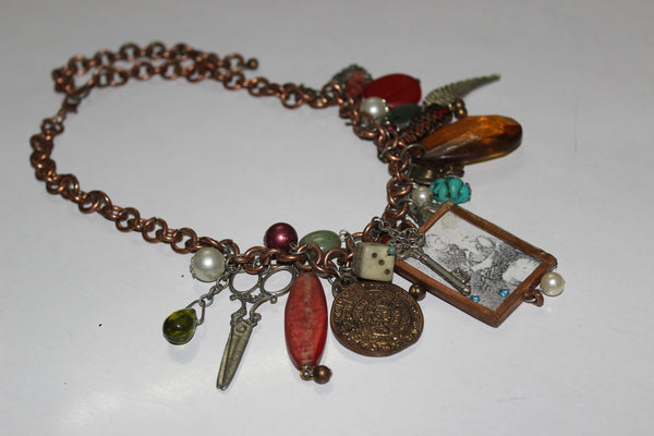 Completely Charmed - Rustic Antique neckpiece - #FTFY - For The Fun Years