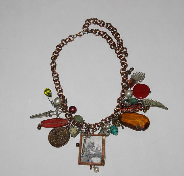 Completely Charmed - Rustic Antique neckpiece