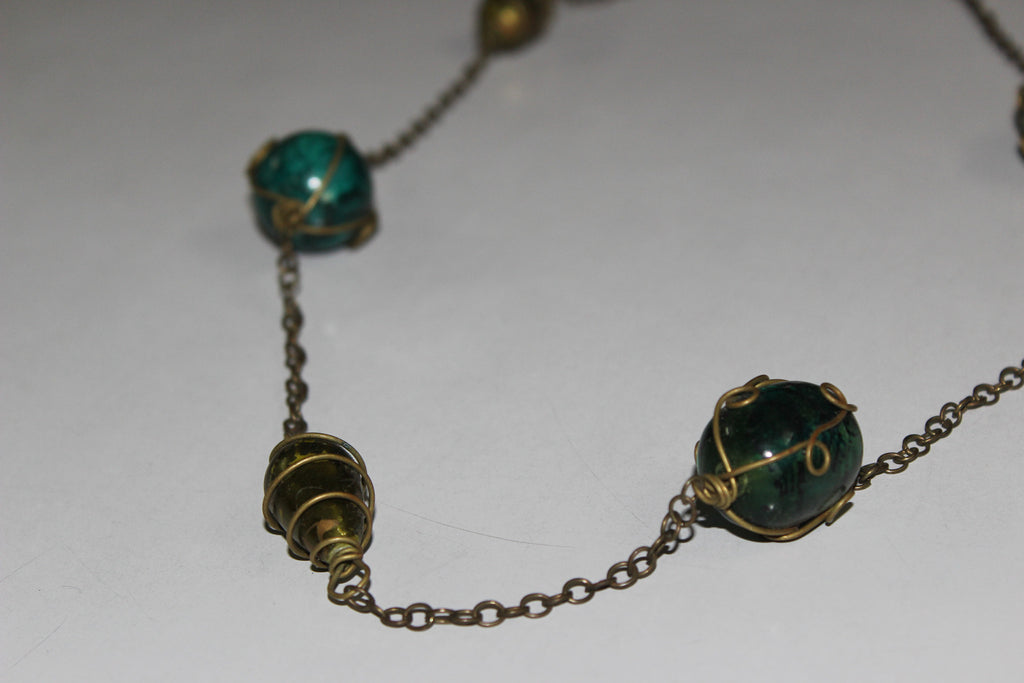 Antique Green Charms Neck piece - #FTFY - For The Fun Years