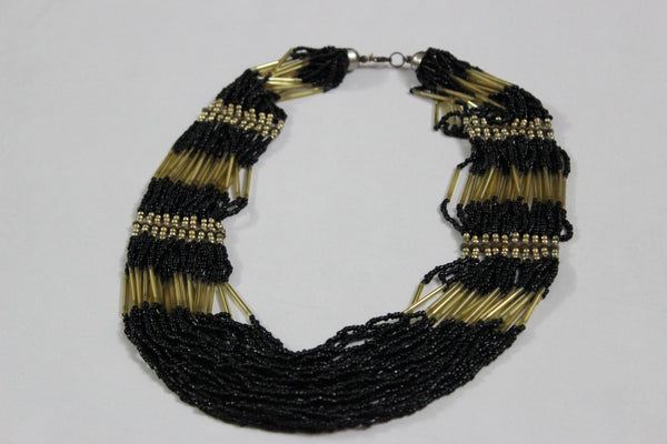 Of beads & Pretty pipes - Black & Gold - #FTFY - For The Fun Years