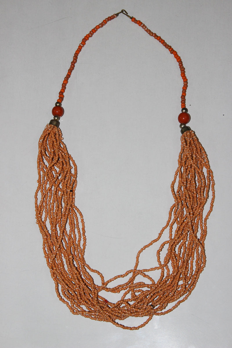 The Peppy Orange multi-layered beads neck piece - #FTFY - For The Fun Years