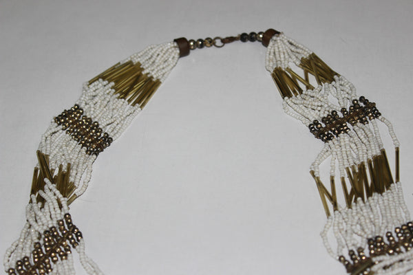 Of beads & Pretty pipes - White & Gold