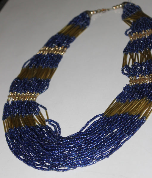 Of beads & Pretty pipes - Blue & Gold