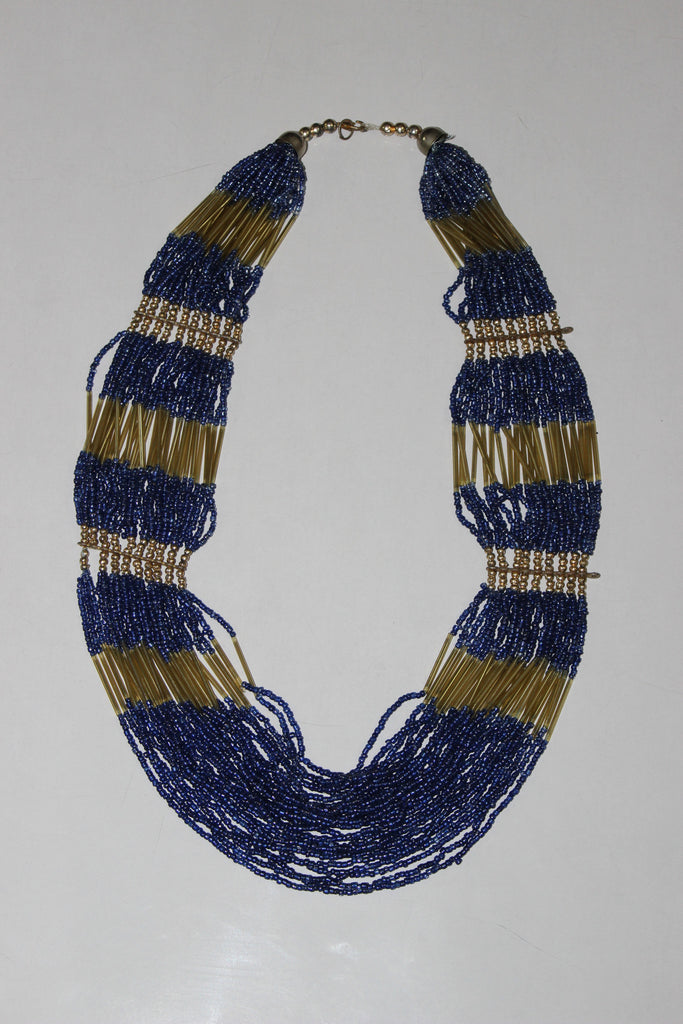 Of beads & Pretty pipes - Blue & Gold - #FTFY - For The Fun Years