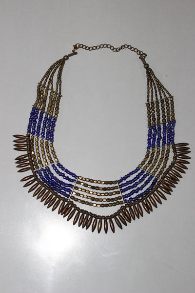 Blue/Bronze Spike Neck Piece - #FTFY - For The Fun Years