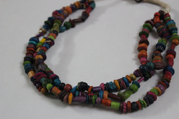 Wood series - Multicolored  neck piece