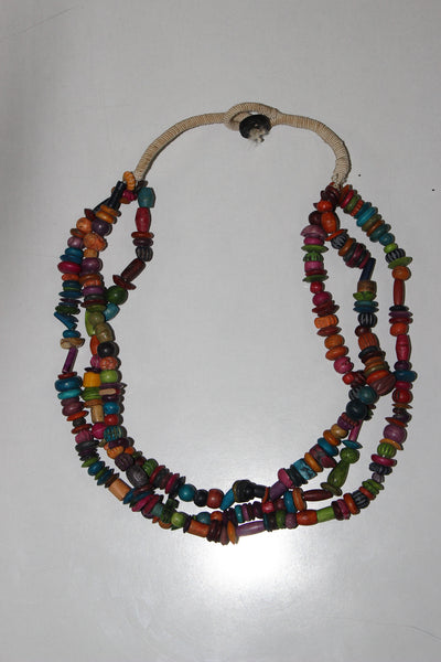 Wood series - Multicolored  neck piece - #FTFY - For The Fun Years