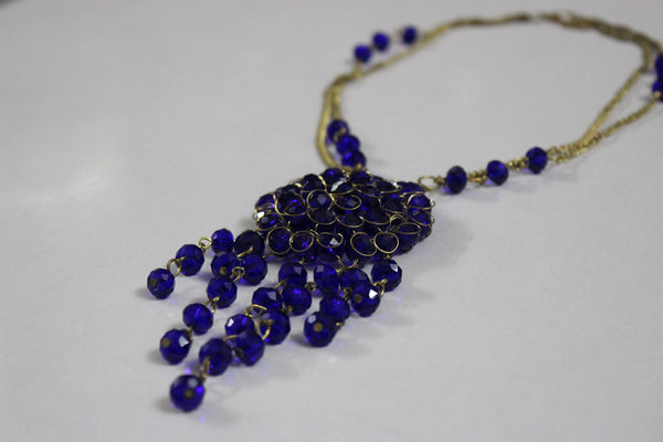 Dazzling Blue Elegant Neck piece - #FTFY - For The Fun Years