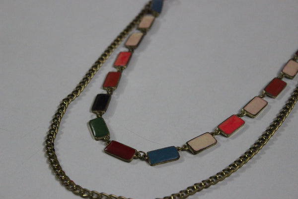Multi color, Rectangular neck piece - #FTFY - For The Fun Years