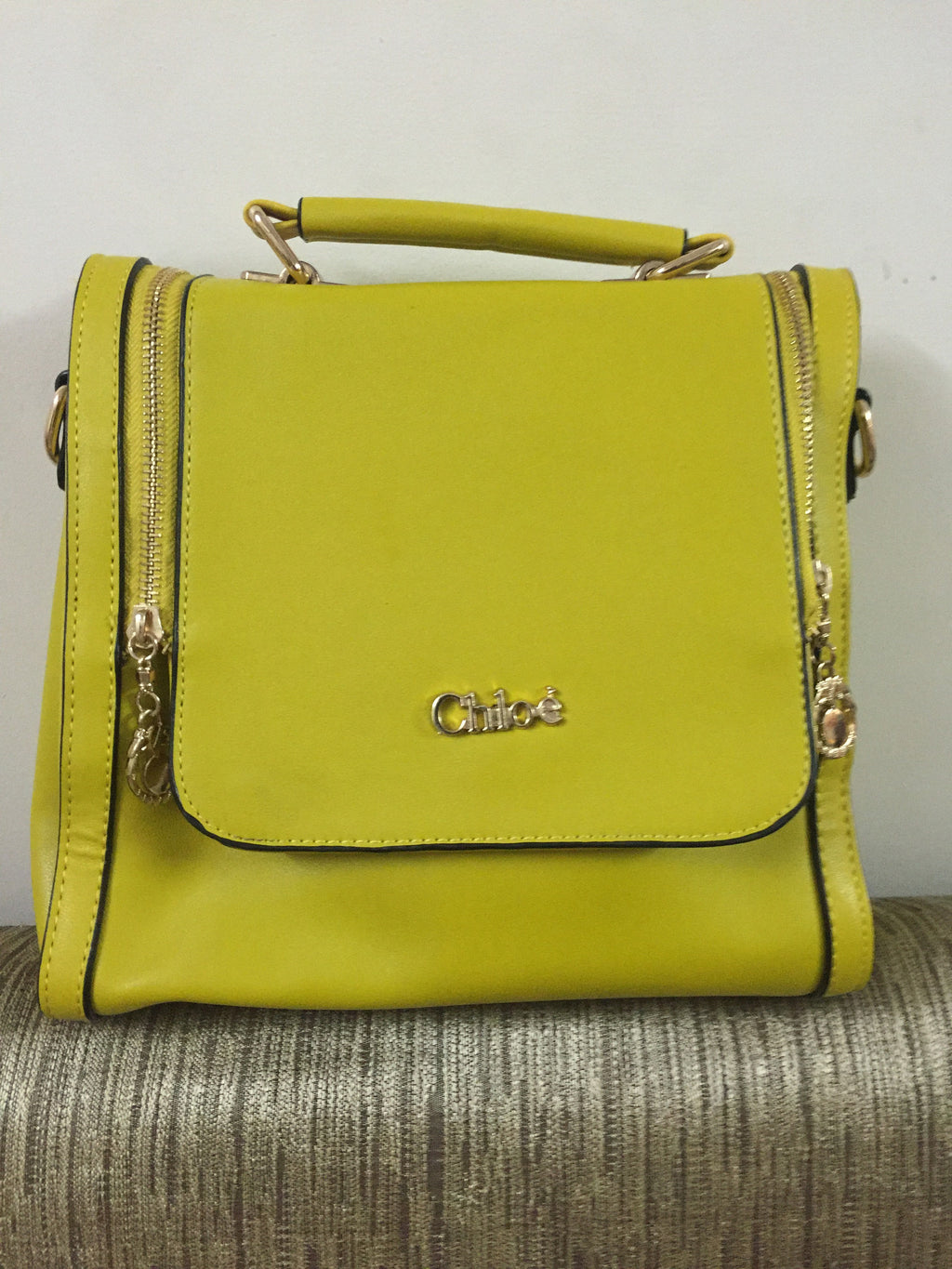 Mustard Yellow Small Hand Bag - #FTFY - For The Fun Years