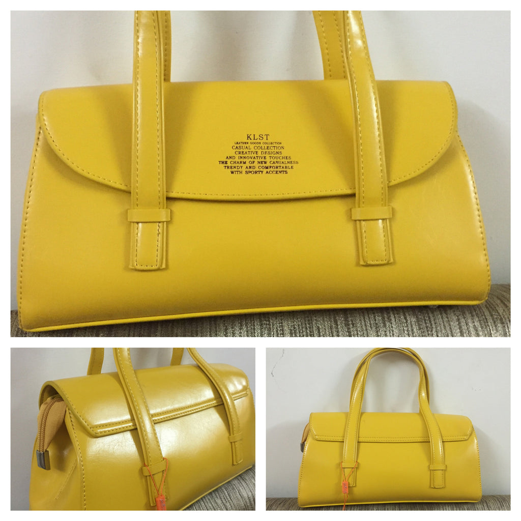 Elegant Mustard Leather Hand Bag - #FTFY - For The Fun Years