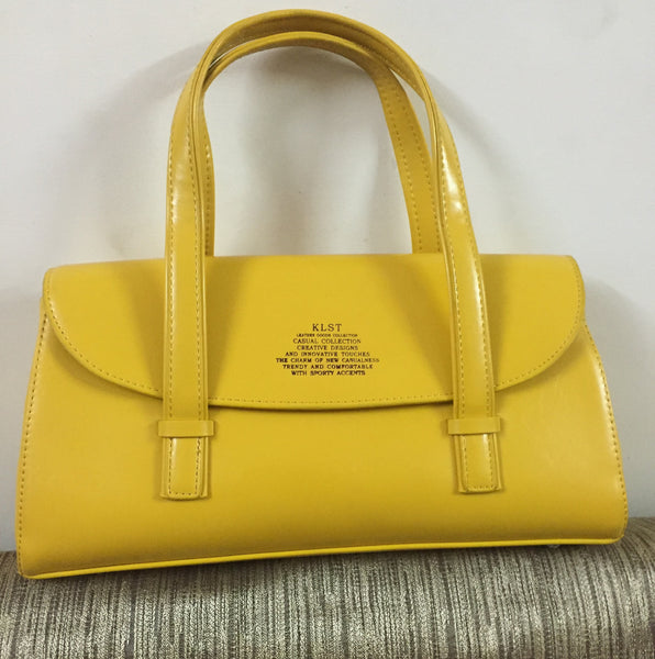 Elegant Mustard Leather Hand Bag