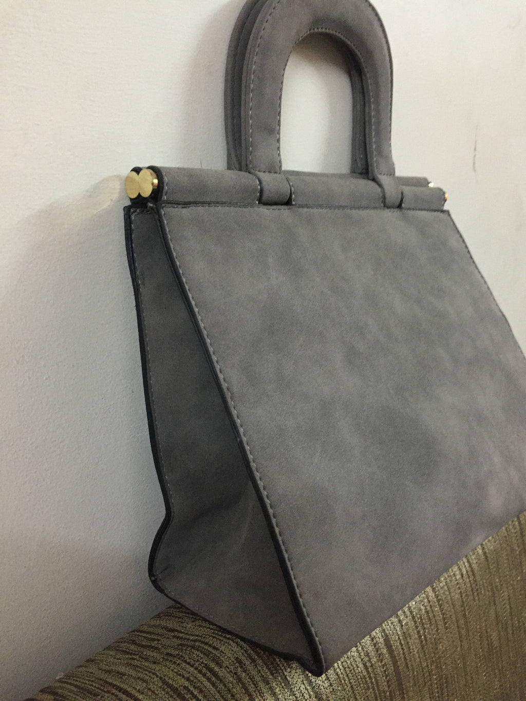 Grey Suede Bag