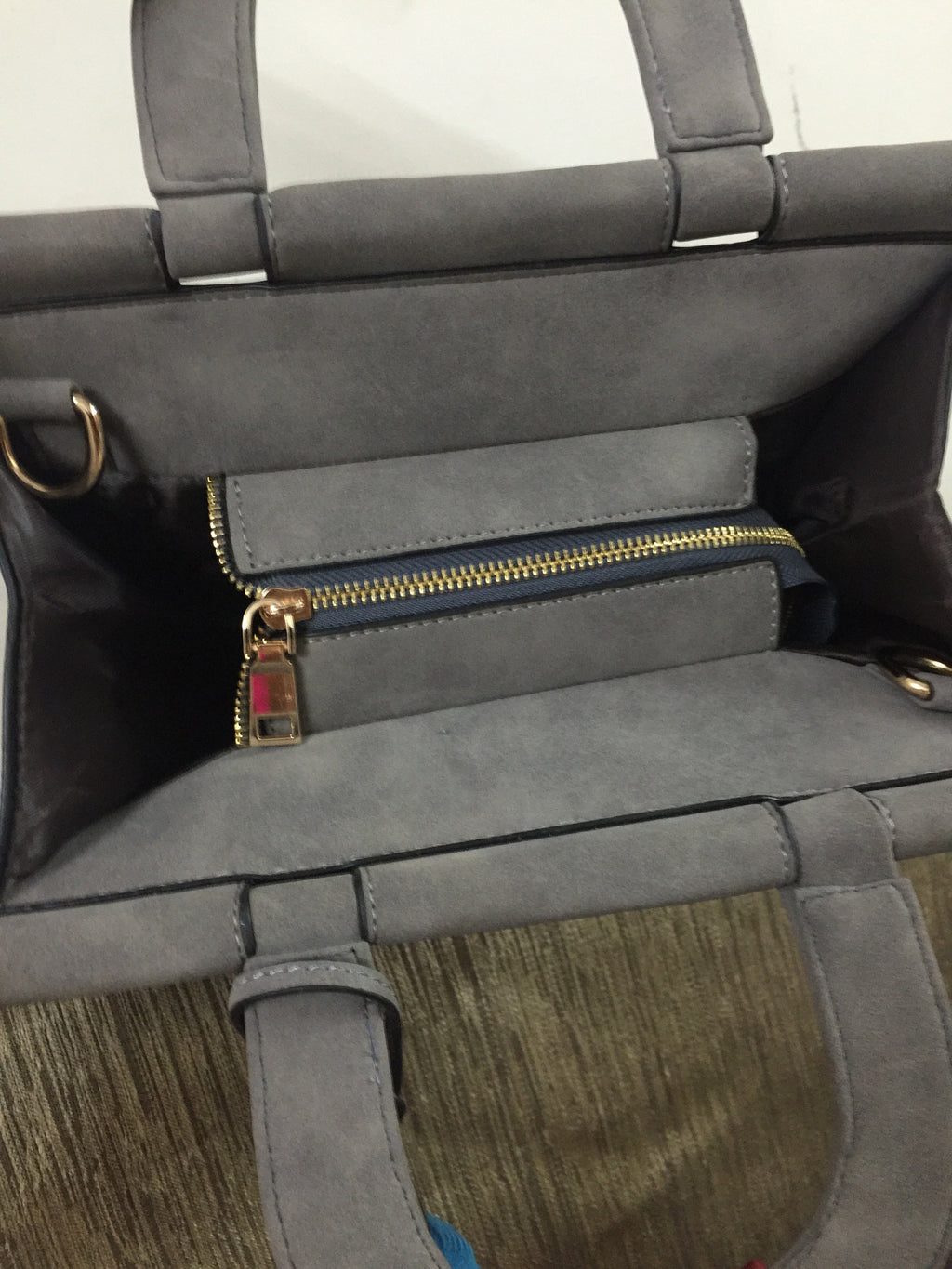 Grey Suede Bag - #FTFY - For The Fun Years