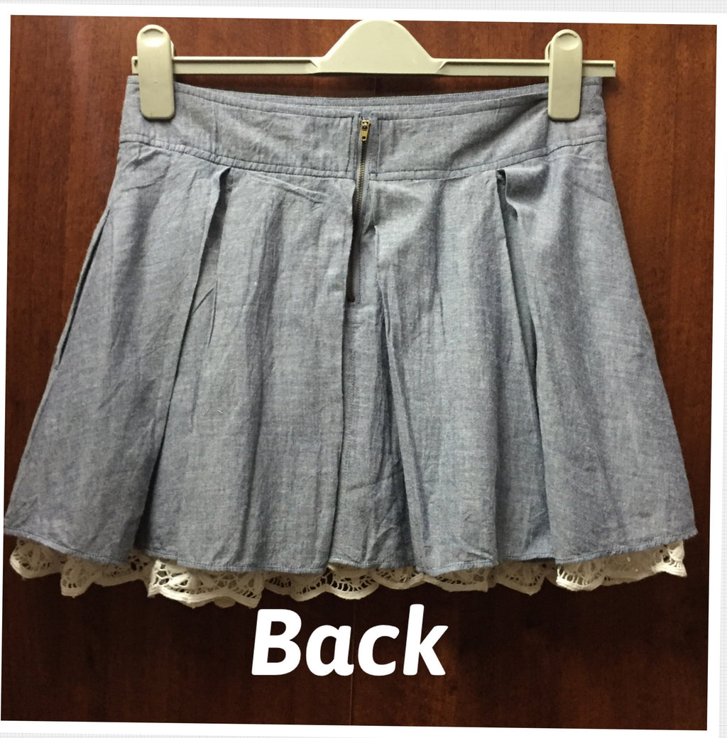 Denim style, Cotton Skirt - #FTFY - For The Fun Years