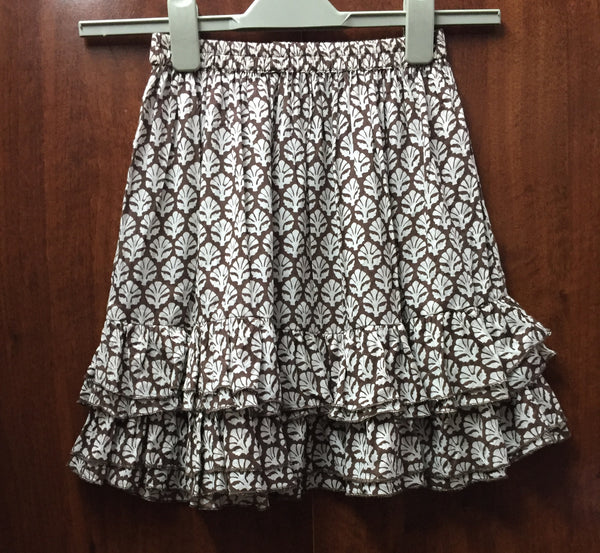 Brown & White Cotton Skirt. - #FTFY - For The Fun Years