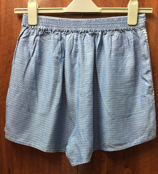 Blue Cotton Knee length shorts - #FTFY - For The Fun Years