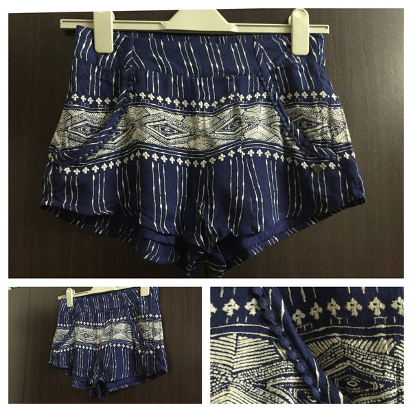 Denim Colored Blue & Grey Cotton Cute Shorts - #FTFY - For The Fun Years