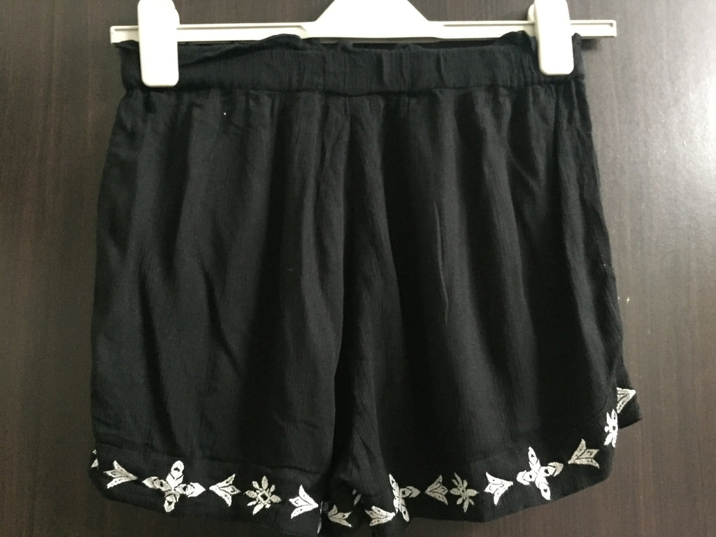 Black Shorts with White embroidery - #FTFY - For The Fun Years