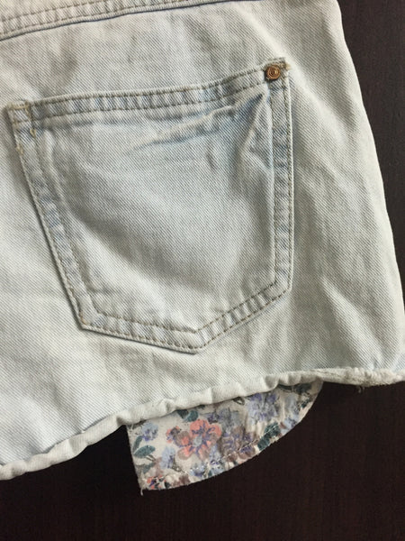 Light Blue Pocket showing Short Denims