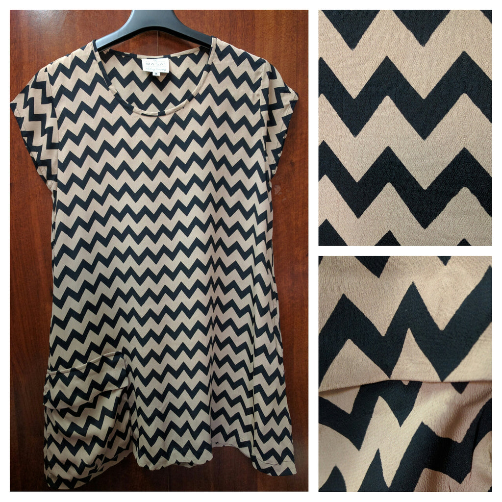 Brown & Black Zig-Zag Print Long Tunic - #FTFY - For The Fun Years