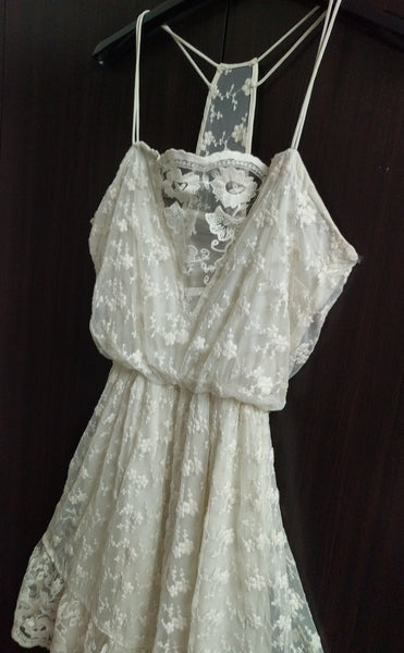 Essential Pretty White Net Dress.