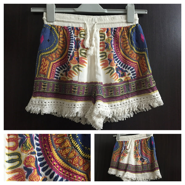 Trident Print Cotton Shorts