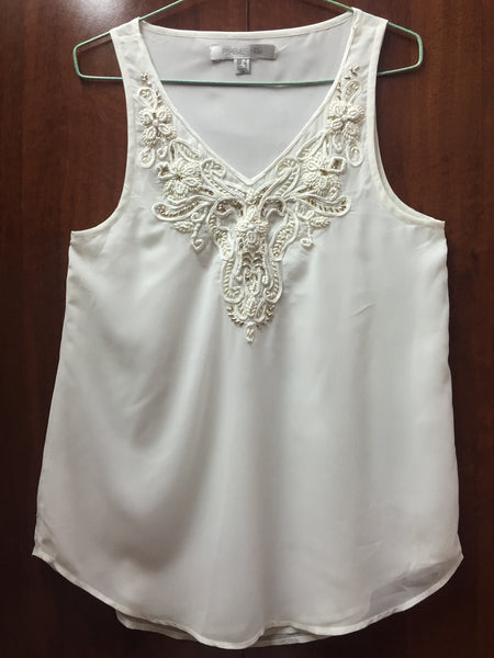 Elegant White Sleeveless Top