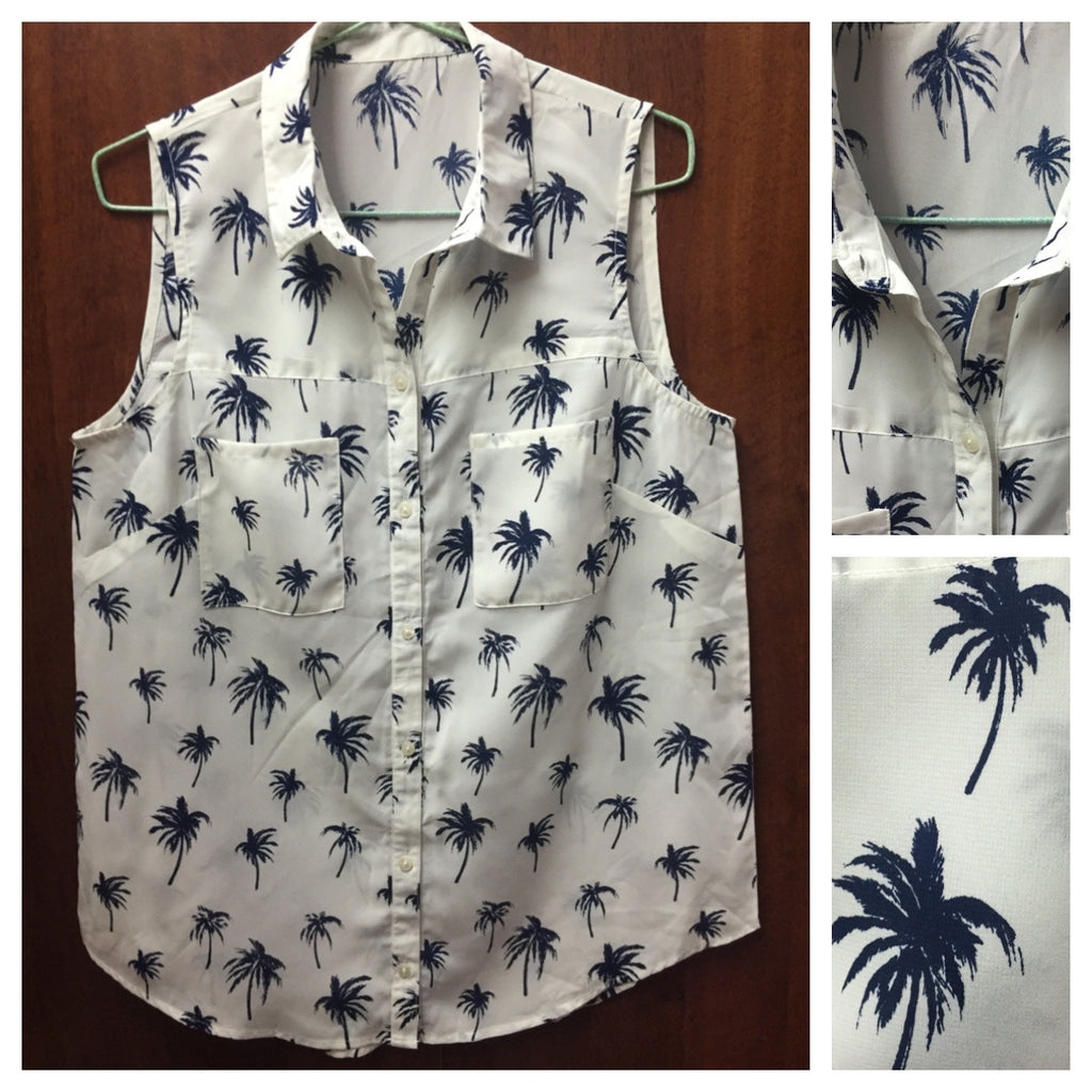 Blue Palm Tree Shirt - #FTFY - For The Fun Years