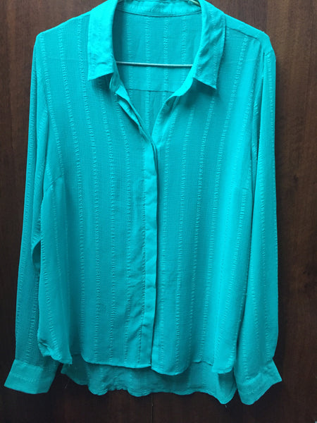 Teal High-Low Shirt
