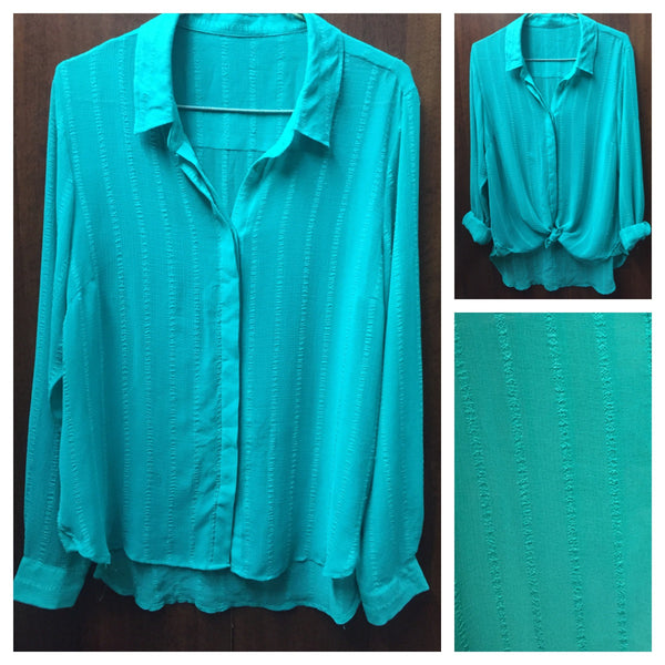 Teal High-Low Shirt - #FTFY - For The Fun Years