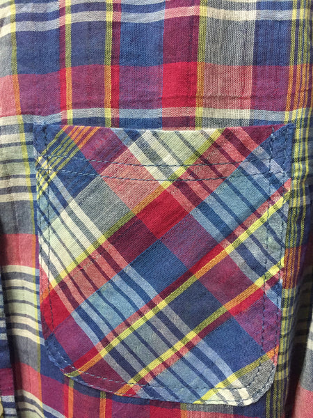 Retro Multicolor Cotton Check Shirt