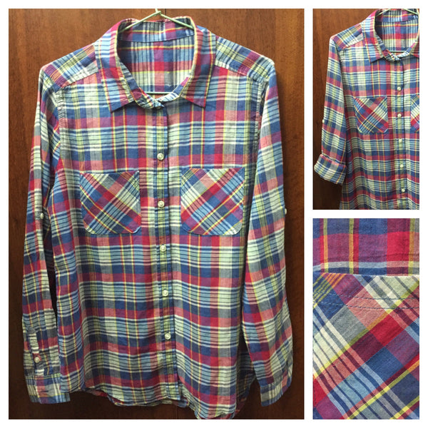 Retro Multicolor Cotton Check Shirt - #FTFY - For The Fun Years