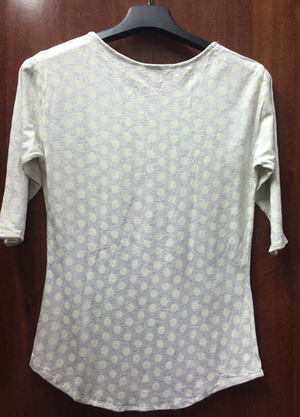 Grey Polka Dots Jersey Top.