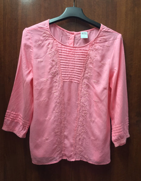 Pretty Pink Top with beautiful Embroidery Work
