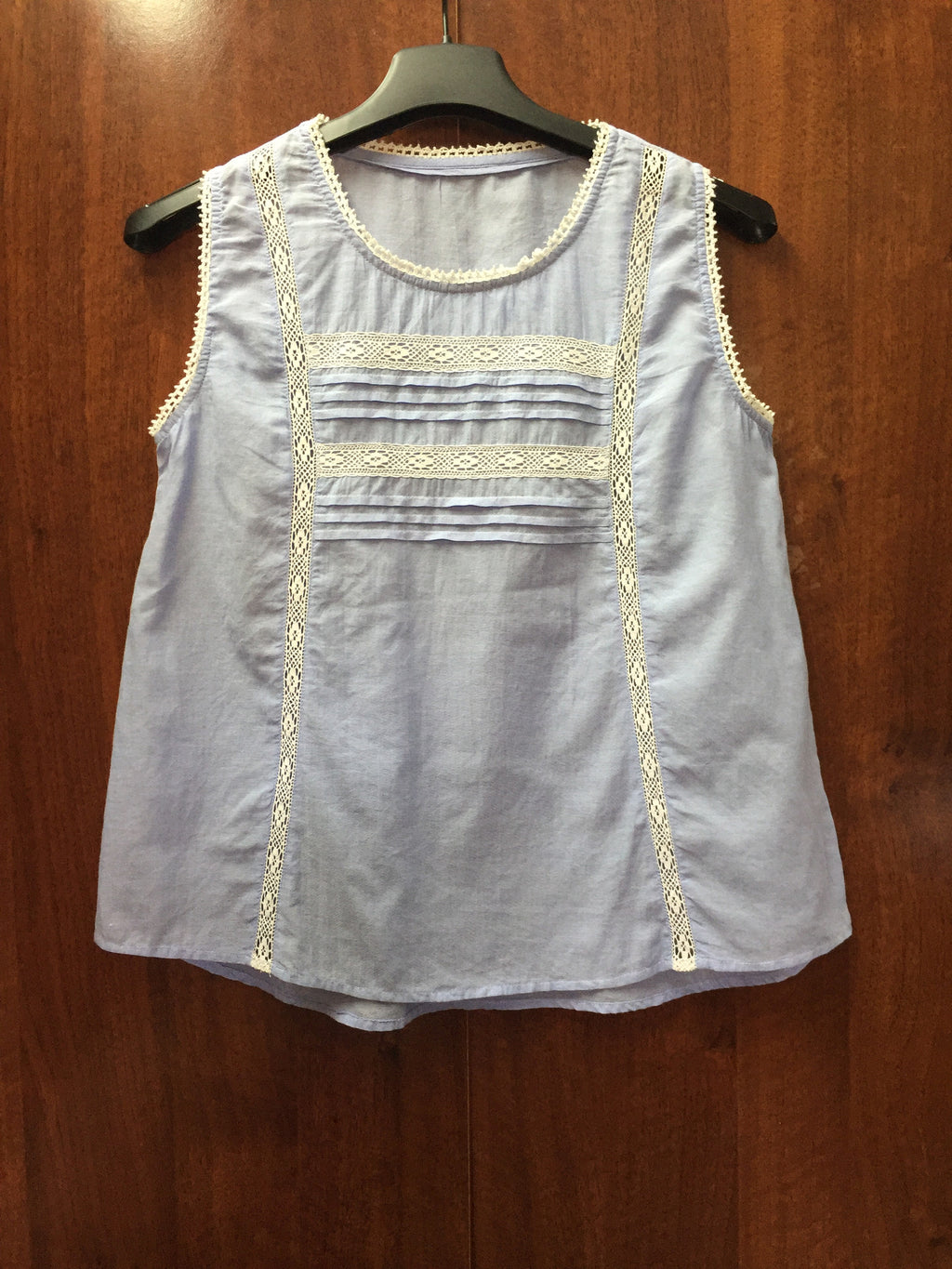 Ink Blue Cotton Sleeveless Top.