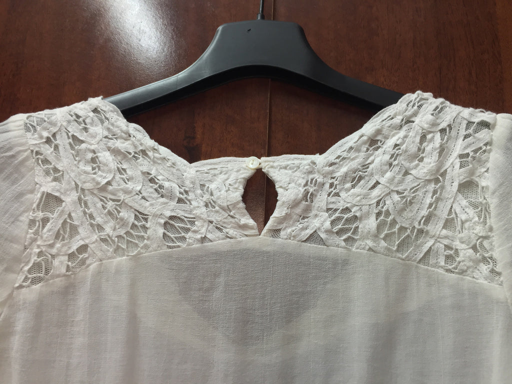 Cream Top with Embroidery