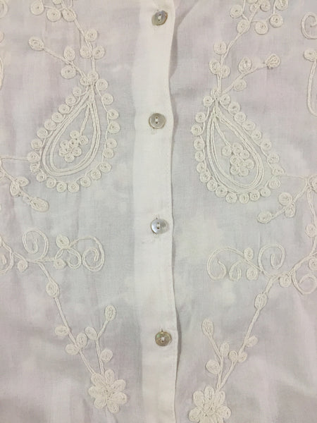 Vintage White Blouse style Top