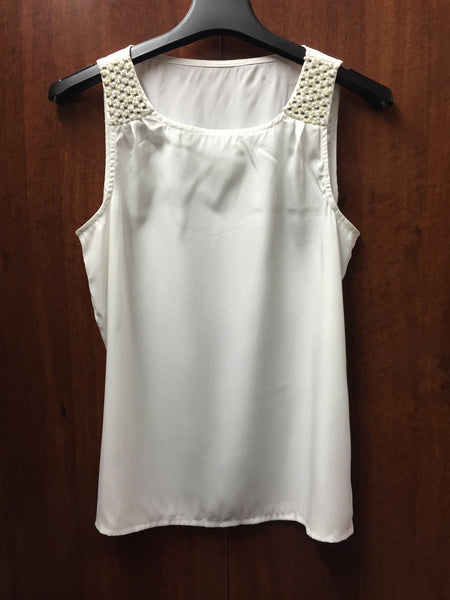 Shimmer Pearl Sleeveless Top