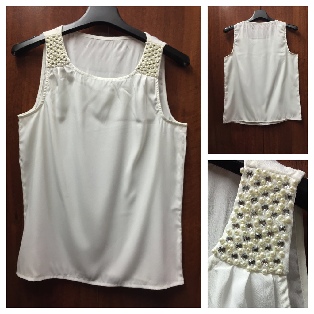 Shimmer Pearl Sleeveless Top - #FTFY - For The Fun Years