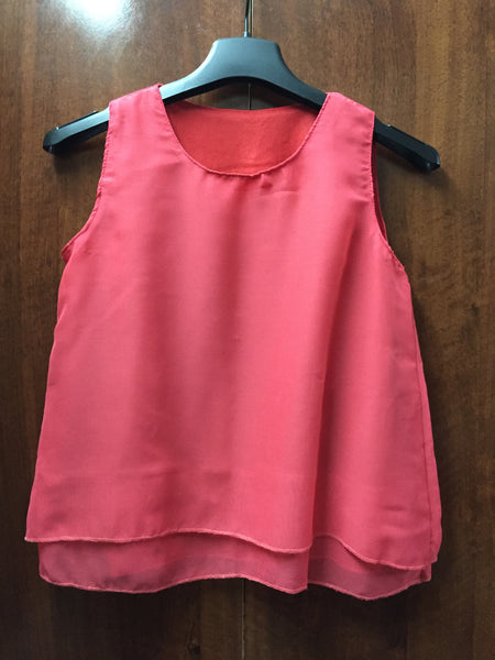 Short Pop Top - Peach