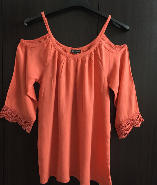 Cold - Shoulder Top - Plain Dark Pink - #FTFY - For The Fun Years
